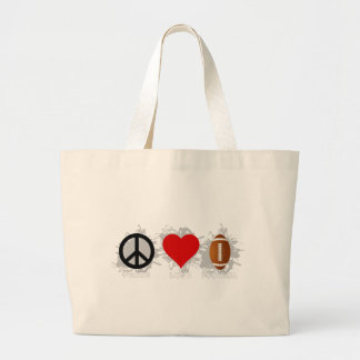 FriedensLiebe-Fußball-Emblem Jumbo Stoffbeutel
