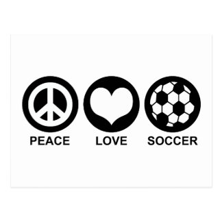 FriedensLiebe-Fußball Postkarte