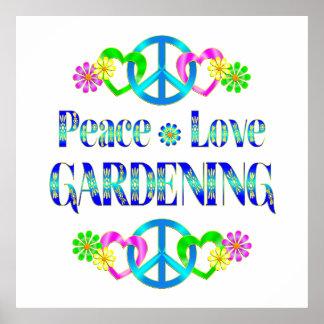 FriedensLiebe-Gartenarbeit Plakate