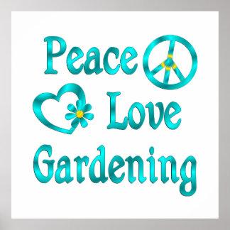 FriedensLiebe-Gartenarbeit Poster