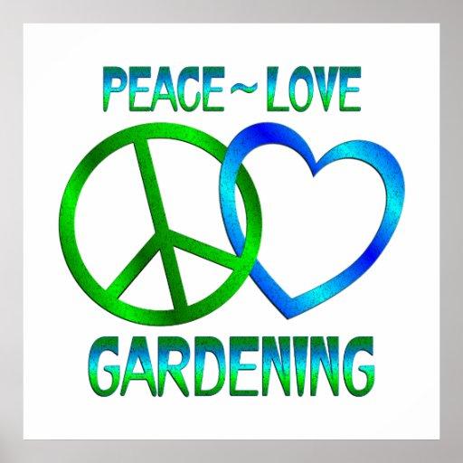 FriedensLiebe GARTENARBEIT Plakatdruck