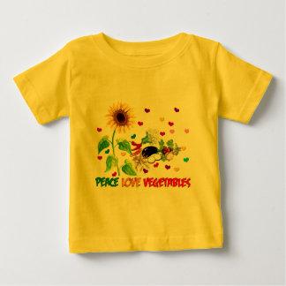 FriedensLiebe-Gemüse Baby T-shirt