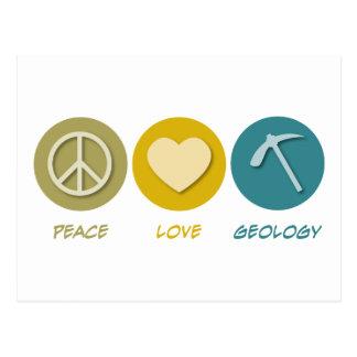 FriedensLiebe-Geologie Postkarte