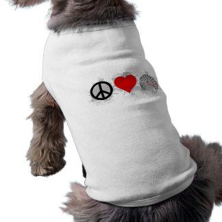 FriedensLiebe-Geschwindigkeits-Emblem 3 Shirt