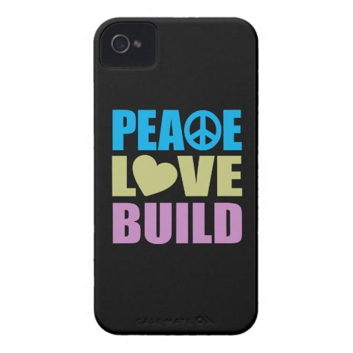 FriedensLiebe-Gestalt iPhone 4 Etuis