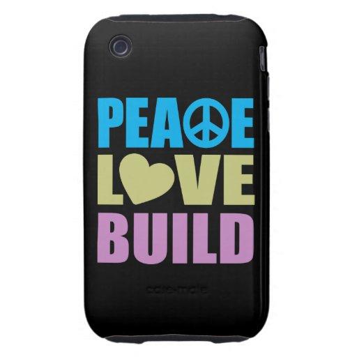 FriedensLiebe-Gestalt Tough iPhone 3 Etuis