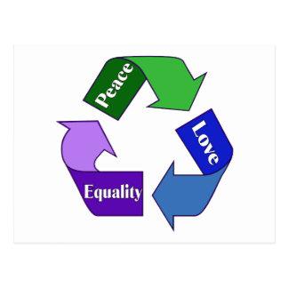 FriedensLiebe-Gleichheit Postkarte