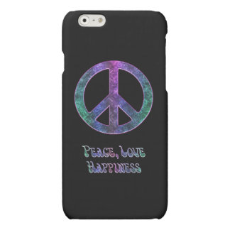 FriedensLiebe-Glück-Friedenszeichen iPhone 6 Fall