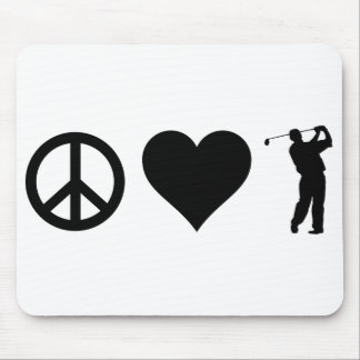 FriedensLiebe-Golf Mauspad