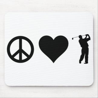 FriedensLiebe-Golf Mousepad