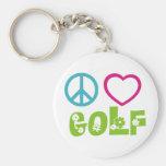 FriedensLiebe-Golf Schlüsselanhänger