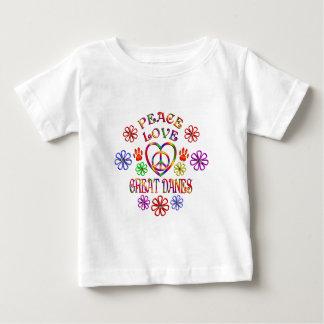 FriedensLiebe-große Dänen Baby T-shirt