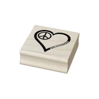 FriedensLiebe-Gymnastik-Gummi-Briefmarke Gummistempel