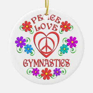 FriedensLiebe-Gymnastik Keramik Ornament