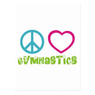 FriedensLiebe-Gymnastik Postkarte