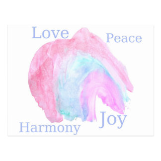 FriedensLiebe-Harmonie-Freude Postkarte