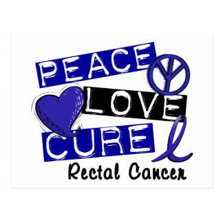 FriedensLiebe-Heilungs-rektaler Krebs Postkarte