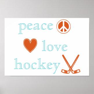FriedensLiebe-Hockey Poster
