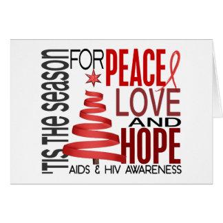 FriedensLiebe-Hoffnungs-Weihnachtsfeiertag AIDS Karte