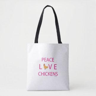 FriedensLiebe-Huhn-Taschen-Tasche Tasche