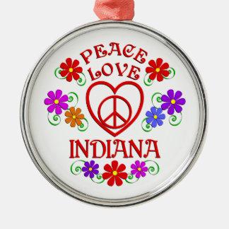 FriedensLiebe Indiana Silbernes Ornament