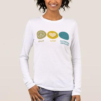 FriedensLiebe-interne Medizin Langarm T-Shirt