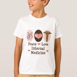 FriedensLiebe-interne Medizin scherzt T-Shirt