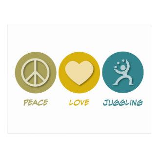 FriedensLiebe-Jonglieren Postkarte