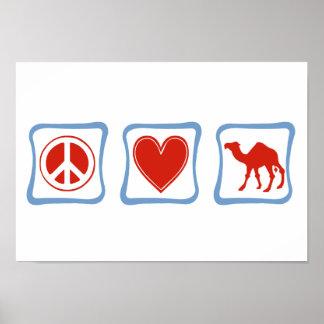FriedensLiebe-Kamelquadrate Poster