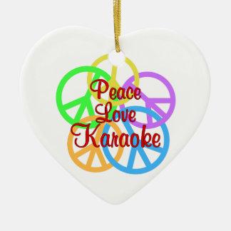 FriedensLiebe-Karaoke Keramik Ornament