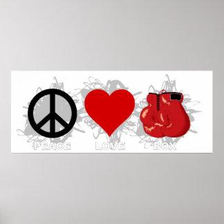 FriedensLiebe-Kasten-Emblem Poster