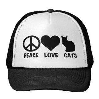 FriedensLiebe-Katzen Baseballkappe