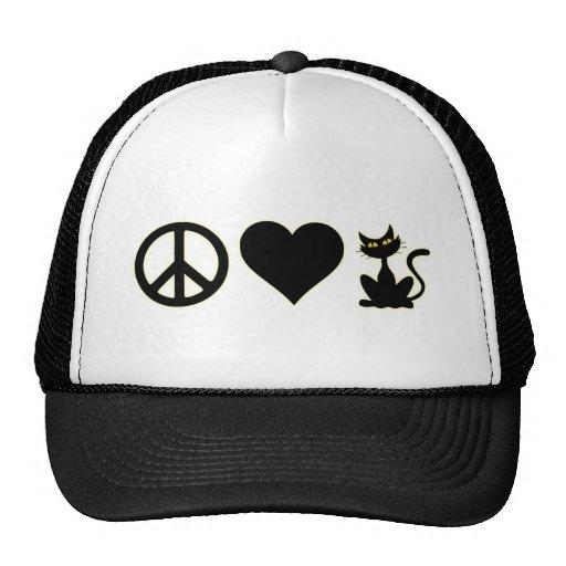 FriedensLiebe-Katzen Baseballcaps