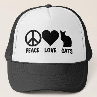 FriedensLiebe-Katzen Truckerkappe