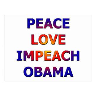 FriedensLiebe klagen Obama an Postkarte