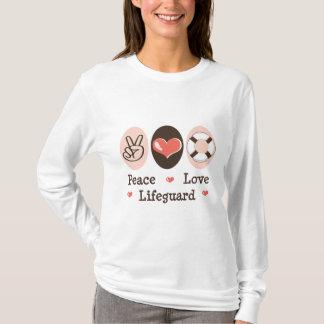 FriedensLiebe-Leibwächter-langes Hülsen-T-Shirt T-Shirt