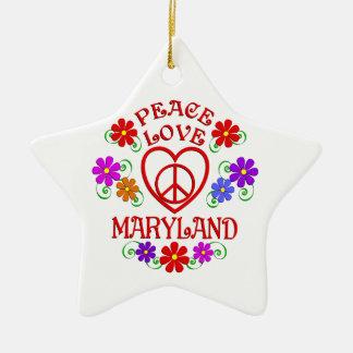 FriedensLiebe Maryland Keramik Ornament
