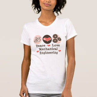 FriedensLiebe-Maschinenbauwesen-beunruhigtes T-Shirt