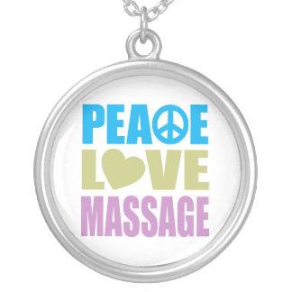 FriedensLiebe-Massage Versilberte Kette