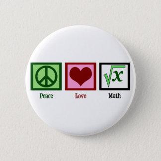 FriedensLiebe-Mathe Runder Button 5,1 Cm