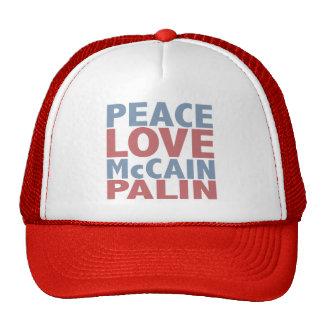 FriedensLiebe McCain Palin Retrokultkappen