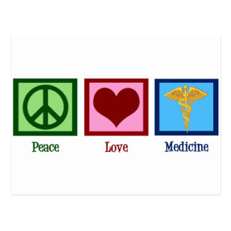 FriedensLiebe-Medizin Postkarte