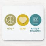 FriedensLiebe-medizinische Platten Mousepad