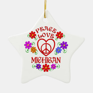 FriedensLiebe Michigan Keramik Ornament