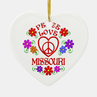 FriedensLiebe Missouri Keramik Ornament