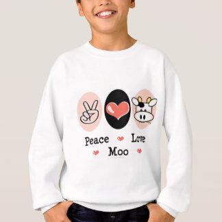 FriedensLiebe-MOO-Kuh scherzt Sweatshirt