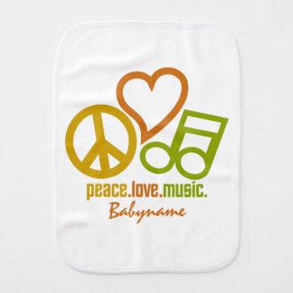 FriedensLiebe-Musik kundenspezifischer Burpstoff Spucktuch