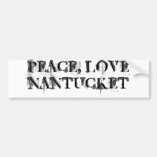 FriedensLiebe Nantucket Aufkleber Autoaufkleber