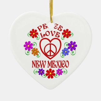 FriedensLiebe New-Mexiko Keramik Herz-Ornament