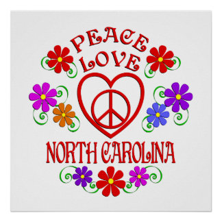 FriedensLiebe Nord-Carolina Poster